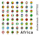 isolated african flags | Shutterstock .eps vector #29577532
