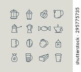 set of line icons. coffee  turk ... | Shutterstock .eps vector #295775735