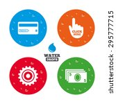water drops on button. atm cash ... | Shutterstock .eps vector #295777715