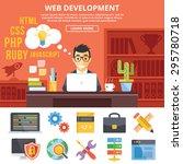 web development flat... | Shutterstock .eps vector #295780718