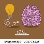 brain digital design  vector...   Shutterstock .eps vector #295785335