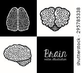brain digital design  vector... | Shutterstock .eps vector #295785338