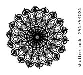mandala. round ornament pattern.... | Shutterstock .eps vector #295794035