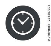 image of clock in black circle  ...