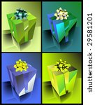 gift box icons | Shutterstock .eps vector #29581201