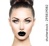 high fashion beauty model girl... | Shutterstock . vector #295819082