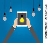 business concept  idea to... | Shutterstock .eps vector #295824368