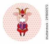 animal cartoon christmas style...   Shutterstock .eps vector #295830572