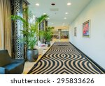 hotel lobby with modern design | Shutterstock . vector #295833626