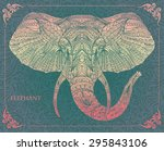 ethnic patterned head of...   Shutterstock .eps vector #295843106