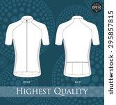 short sleeve cycling jerseys... | Shutterstock .eps vector #295857815