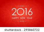 happy new year 2016 on circle... | Shutterstock .eps vector #295860722