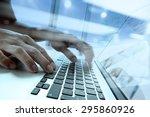 double exposure of businessman...   Shutterstock . vector #295860926