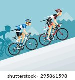 the group of cyclists man in... | Shutterstock .eps vector #295861598