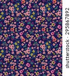 Stock photo seamless ditsy floral pattern 295867892