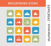 rock peak icons | Shutterstock .eps vector #295876655
