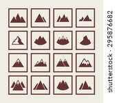 mountain travel icon set | Shutterstock .eps vector #295876682