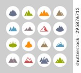 mountain travel icon set | Shutterstock .eps vector #295876712
