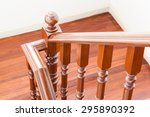 wooden clean staircase  | Shutterstock . vector #295890392