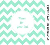 retro light mint chevron... | Shutterstock .eps vector #295898366
