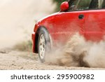 Rally Car in track - stock photo