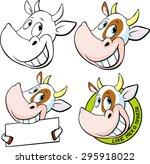 funny cow head   vector... | Shutterstock .eps vector #295918022