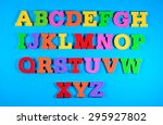 colorful plastic alphabet... | Shutterstock . vector #295927802