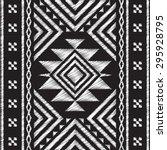 ethnic neckline doodle tribal... | Shutterstock .eps vector #295928795