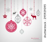 christmas decorations. vector... | Shutterstock .eps vector #295929395