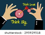 think big concept vector... | Shutterstock .eps vector #295929518