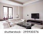 White Designed Living Room In...