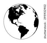 earth globe symbol | Shutterstock .eps vector #295932902
