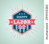 happy labor day | Shutterstock .eps vector #295933382