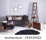 Purple Wall Vintage Interior...