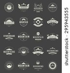 set mountains logos  badges and ... | Shutterstock .eps vector #295943555
