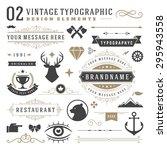 retro vintage typographic... | Shutterstock .eps vector #295943558