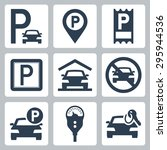 parking related vector icon set | Shutterstock .eps vector #295944536