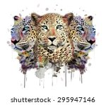 leopard illustration animal... | Shutterstock . vector #295947146