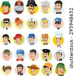 cartoon vector characters of... | Shutterstock .eps vector #295948652