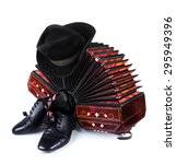 Bandoneon  Pair Of Tango Shoes...