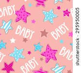 cute girlish seamless pattern ... | Shutterstock .eps vector #295950005