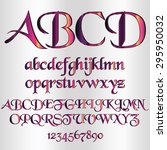 decorative metallic font  ... | Shutterstock .eps vector #295950032