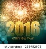 2016  new year made a sparkler. ...   Shutterstock .eps vector #295952975