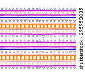 seamless colorful neon tribal... | Shutterstock .eps vector #295953035