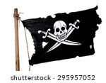 Waving In The Wind Pirate Flag...