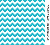 Aqua   White Chevron Pattern ...