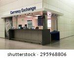 Stock photo san francisco usa may currency exchange booth at san francisco international airport 295968806