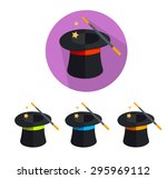 illustration magic hat icon...   Shutterstock . vector #295969112