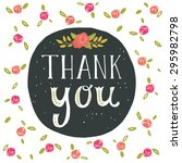thank you. greeting card with... | Shutterstock .eps vector #295982798