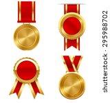 golden premium quality best... | Shutterstock .eps vector #295988702